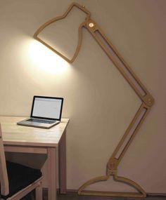 Luminária de parede criativa!