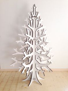 Recycled cardboard christmas tree holiday por cardboardchristmas