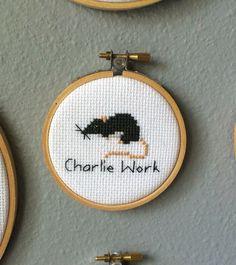 It's Always Sunny in Philadelphia - Charlie Work Rat Cross Stitch Art