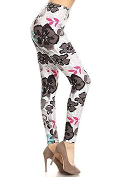 ab3d762188 We are loving the warmer weather and our Brushed Morning Fresh Floral  Leggings are the epitome of spring! With beautiful floral print design on  milk silk ...