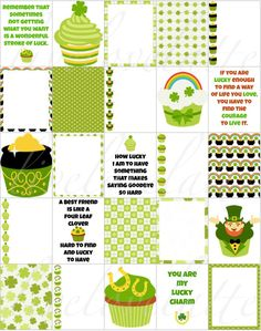 ST PATRICKS Day CUPCAKES for use with Erin Condren (Vertical) Planner - digital  - Instant Download by LiveLoveLatte on Etsy