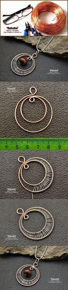 Tutorial DIY Wire Jewelry Image Description Wire Wrap Pendant by Walking Pureheart Wire Pendant, Wire Wrapped Pendant, Wire Wrapped Jewelry, Bijoux Wire Wrap, Bijoux Diy, Diy Schmuck, Schmuck Design, Wire Jewelry Designs, Jewelry Crafts