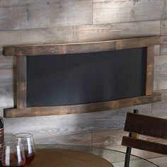 Reclaimed Barrel Stave Chalkboard (Rectangle) at Wine Enthusiast - $99.95