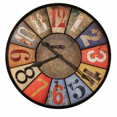 Oversized County Line Wall Clock by Howard Miller