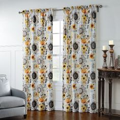 """IYUEGO Artistic Sunflowers Pattern Rod Pocket Top Lined Blackout Curtains Draperies With Multi Size Custom 42"""" W x 63"""" L (One Panel)"""