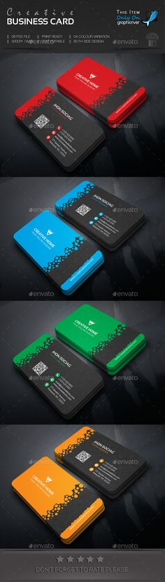 Creative Business Card by Logomuseum FEATURES:Easy Customizable and Editable Business card with bleed CMYK Color Design in 300 DPI Resolution Print Read Business Card Maker, Business Card Psd, Unique Business Cards, Professional Business Cards, Business Card Design, Creative Business, Calling Card Design, Name Card Design, Cv Web