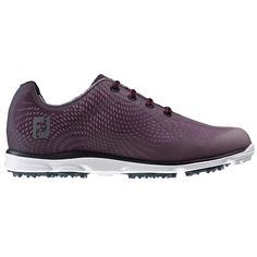From the ground up the FootJoy ladies emPOWER spikeless golf shoes will help you perform at your best on all kinds of underfoot conditions.A lightweight Every-Step foam and MaxGrip outsole combine to give you excellent grip and cushioning for instant and long-lasting comfort.The bold athletic style upper provides a refreshing look to a ladies golf shoe that will go with any choice of outfit your choose to wear.Product FeaturesBreathEasy Upper - An engineered sports mesh designed to deliver…