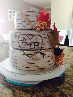 Fall wedding, this is perfect. already has our initials!