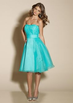 Wear with a coral cardigan . :)TBN906 Tiffany Blue Bridesmaid Dresses  @sydneycannon (: loveee the color