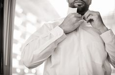 like this groom getting ready.