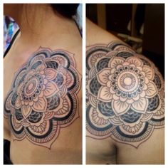 #tattoo #tattoos #Chicago #tatutomrock #mandala #wheel #detail #finedetail #intricate #shouldertattoo #blackandgrey #art #artist