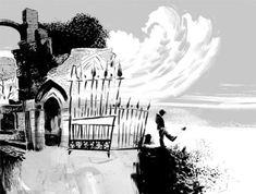 the graveyard book, by neil gaiman, illustrations by dave mckean. Chris Riddell, The Graveyard Book, Dave Mckean, Dog Books, Children's Books, Dreams And Nightmares, Image Digital, American Gods, Neil Gaiman