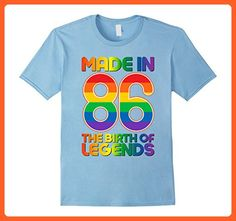 Mens 31th Yearsold Birthday Vintage Made in 1986 Gift ideas 3XL Baby Blue - Birthday shirts (*Partner-Link)