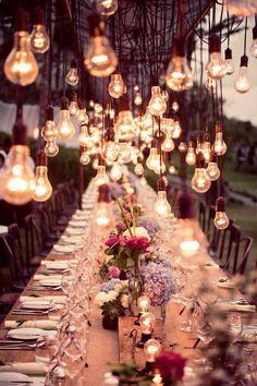 Интересные светильники для свадьбы своими руками