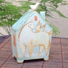 House-Bank with Pegasus by margaretwozniak on Etsy