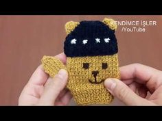 Ayıcıklı Erkek Bebek Eldiveni Yapımı - Teddy Bear Gloves for Baby Bo. Knitting Videos, Loom Knitting, Baby Knitting, Knitting Patterns, Crochet Gloves, Knitted Teddy Bear, Knitted Hats, Crochet For Kids, Do It Yourself