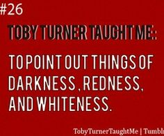 All the time! Look the sign is darkness redness whiteness!!!
