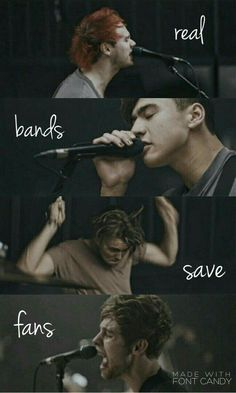& real fans save bands♡