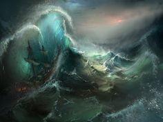 ArtStation - Stormy Seas, Tysen Johnson