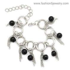 $5 #Paparazzi $5 Jewelry & Accessories #$5 Jewelry #Paparazzi Jewelry www.fashion5jewelry.com #silver and black bracelet #bracelet #black beaded bracelet #facebook.com/justfivedollars