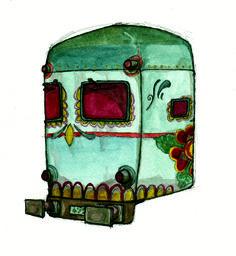 """Illustrazione tratta da """"Treni"""" di Guido Volpi. Pubblicato da Modo Infoshop (2011)."""