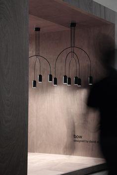 BOW suspensions | lamp collection designed by david dolcini STUDIO for tossB #tossB #lamp #lighting #totalblack #metal #minimal #design #daviddolcini #daviddolcinistudio