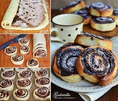 Gabriella kalandjai a konyhában :): Kelt kakaós csiga Creative Cakes, Easy Cooking, High Tea, Doughnut, Cake Recipes, French Toast, Food And Drink, Baking, Breakfast