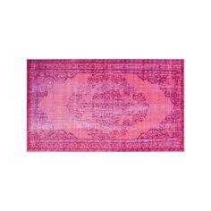 nuLOOM Harper Genisa Overdyed Framed Floral Rug, Pink