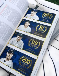 New York Yankees 2014 Premium Suites Campaign by Mark Migliorelli, via Behance Ticket Design, Sports Graphics, New York Yankees, Campaign, Celebrities, Behance, Celebs, Celebrity, Famous People