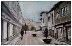 Femlora: Centrul vechi - ulei pe pânză Artist, Artists, Amen