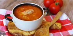 Rajčinová kapusta s bôčikom - Tinkine recepty Fondue, Soup, Cheese, Ethnic Recipes, Hokkaido Dog, Soups, Chowder