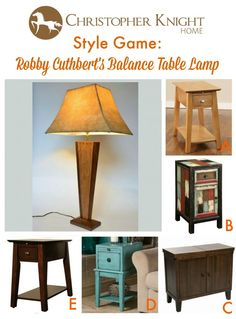 Style Game: Robby Cuthbert's Balance Table Lamp | Christopher Knight Home