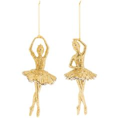 Gold Ballerina Ornaments