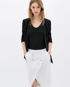 ZARA - WOMAN - CROSSOVER SKIRT WITH BUTTONS