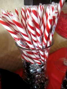 candy with vase filler