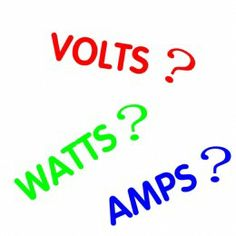 Volts, Watts, Amps, Kilowatt Hours, What Does it All Mean ? - The Basics of Electricity