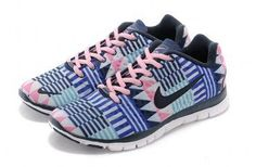 Nike Free TR Fit 3 Print Blue/Pink/White Womens Shoes  $50 I want these