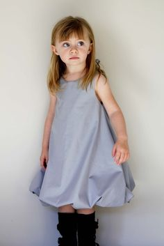 Bubble Dress Pattern and tutorial 6Y-12Y DIY pdf by heidiandfinn