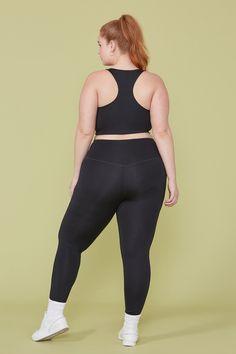 Black Compressive High-Rise Legging – Girlfriend Collective Bree Kish, Pregnant Couple, True Crime, Girlfriends, Curvy, Female, Black, Plum, Weird