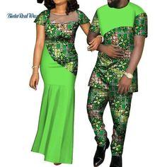 Kente Afrik Couple Clothing Set I LOVE YOU