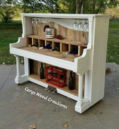 Repurposed piano into wine bar Repurposed Furniture Bar Piano Repurposed Wine Repurposed Furniture Bar Furniture Piano Repurposed Wine