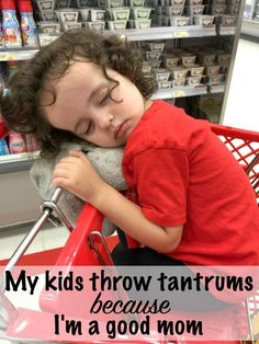 kids throw tantrums in the store because of good parenting