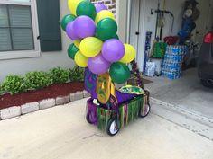 Mardi Gras wagon float
