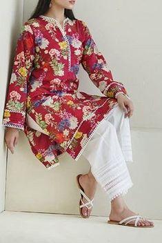 Salwar Designs, Pakistani Kurta Designs, Kurti Designs Party Wear, Pakistani Dress Design, Pakistani Outfits, Frock Fashion, Women's Fashion Dresses, Simple Dresses, Casual Dresses
