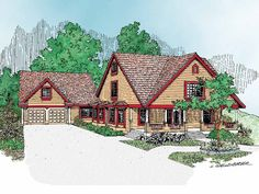 Country House Plan with 2012 Square Feet and 4 Bedrooms from Dream Home Source | House Plan Code DHSW07591
