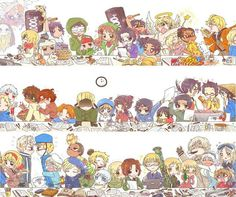 Hetalia - A Normal World Meeting ...Cameroon is just...there. ~~~ I want to hug all of them they're so cute OuO