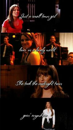 Don't stop believin' over the time of glee