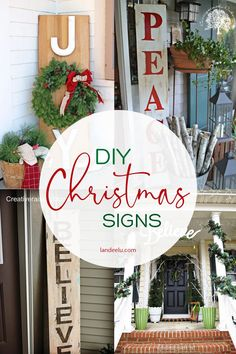 Dreaming of Christmas in July?? Check out these adorable DIY Outdoor Christmas Sign Ideas | landeelu.com #diychristmas #diychristmassigns #christmassignideas #diyoutdoorsigns Holiday Signs, Christmas Signs, All Things Christmas, Christmas Crafts, Holiday Decor, Christmas Ideas, Christmas 2019, Outdoor Christmas Tree Decorations, Mini Christmas Tree