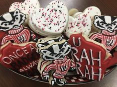 U Rah Rah, Wisconsin! Badger Decorated Cookies
