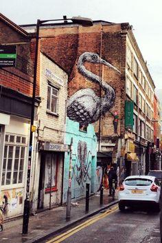 Kranich ROA London Brick Lane